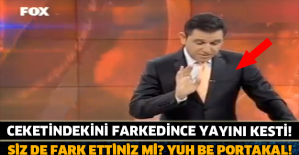 FATİH PORTAKAL CEKETİNDEKİNİ FARK EDİNCE YAYINI KESTİ!