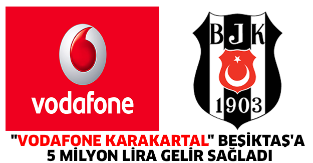 """Vodafone KaraKartal"" Beşiktaş'a 5 milyon lira gelir sağladı"