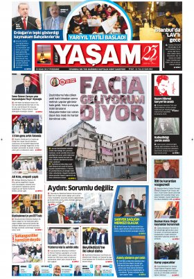 Kent Yaşam Gazetesi - 23.01.2017 Manşeti