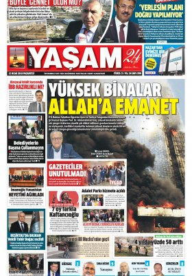 Kent Yaşam Gazetesi - 15.01.2018 Manşeti