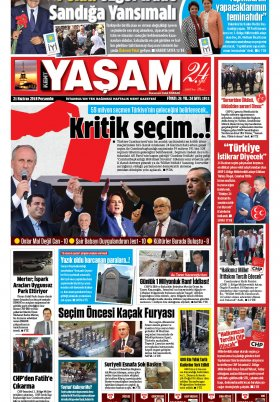 Kent Yaşam Gazetesi - 21.06.2018 Manşeti
