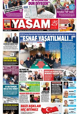 Kent Yaşam Gazetesi - 13.02.2018 Manşeti